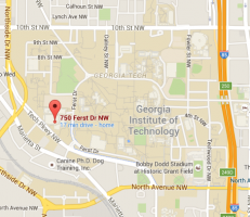 Map of Georgia Tech Campus Recreation