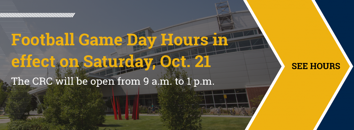 The CRC will be open from 9 am until 1 pm on Saturday, October 21.