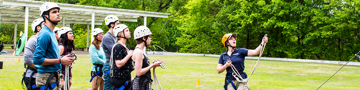 instructor at leadership challenge course