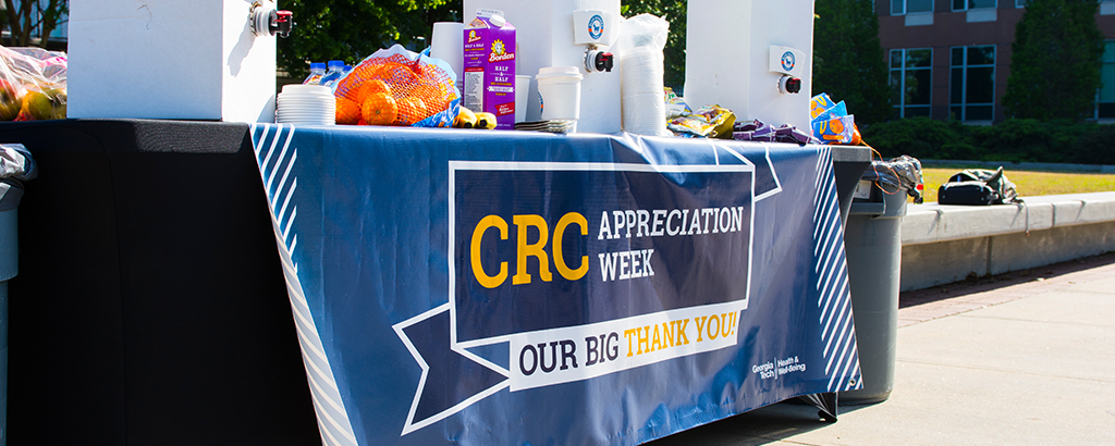 CRC appreciation week table